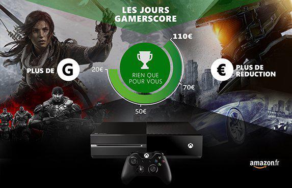 De 20€ à 110€ de réduction sur la Xbox One grâce à votre Gamerscore