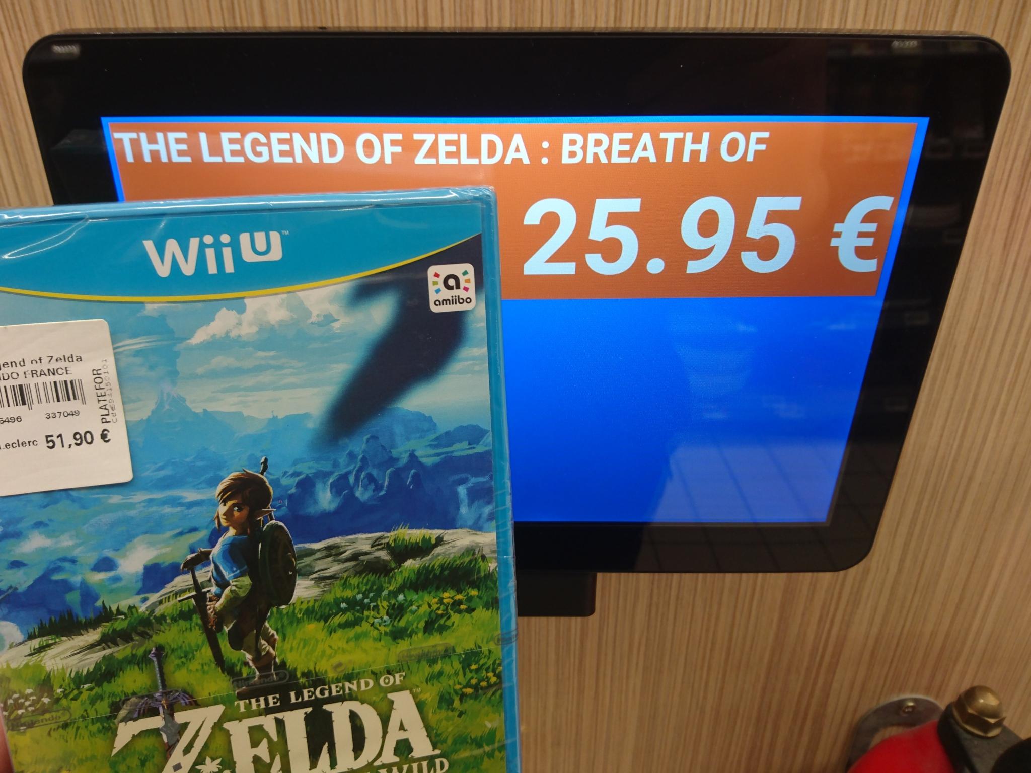 50% de réduction sur une sélection de jeux Wii U et 3DS - Ex : Zelda Breath Of The Wild - Le Mans Allonnes (72)