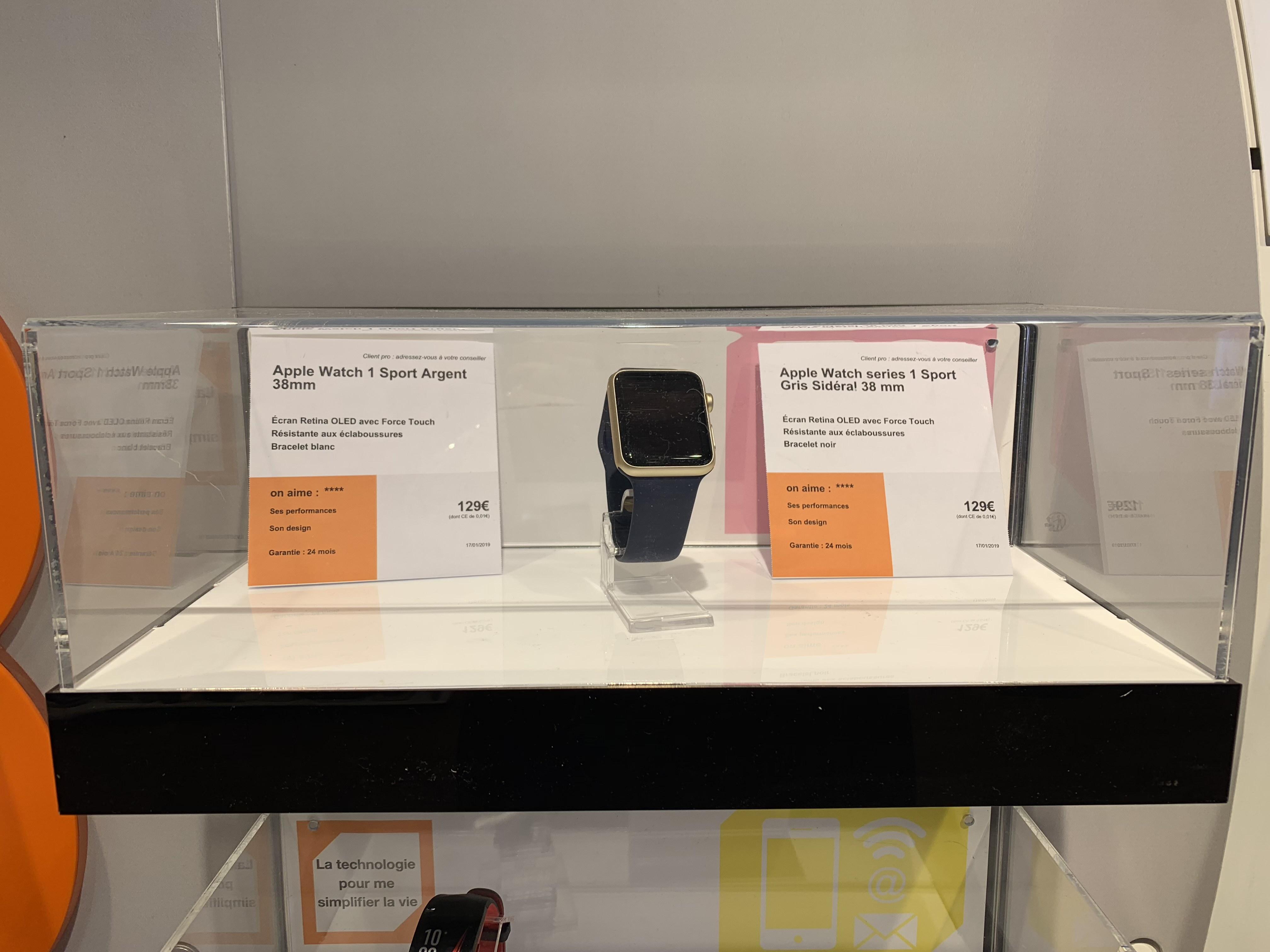 Montre Connectée Apple Watch Série 1 38Mm - Epernay (51)