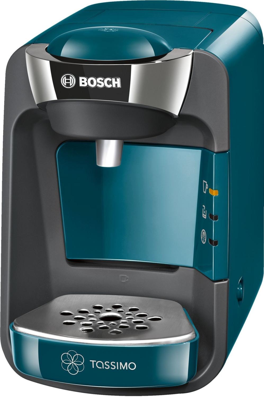 Pack cafetière à capsules Bosch Tassimo Suny T32 (TAS3205, bleu) + lot de 8 paquets de dosettes de café L'Or Espresso (différents types)
