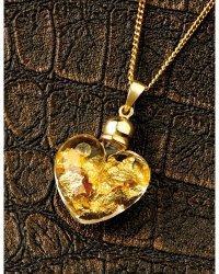 Collier coeur de verre et feuilles d'or gratuit à partir de 20€ d'achat (3.99€ de frais de port)