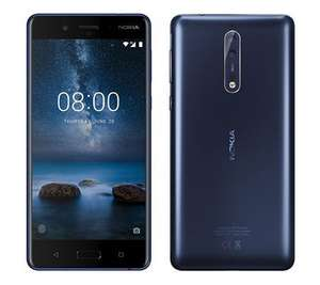 "Smartphone 5.3"" Nokia 8 - QHD, SnapDragon 835, 4 Go de RAM, 64 Go, bleu (sans b20)"