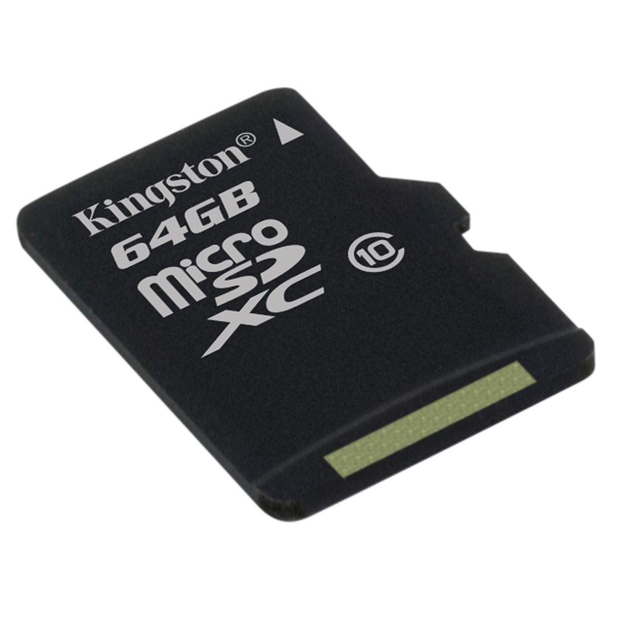 Carte MicroSD Kingston - U1, Classe 10, 64Go