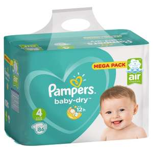Pack De 86 Couches Pampers Baby Dry Tailles Au Choix Via 1642
