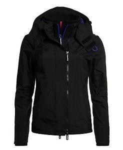 Veste Superdry Pop Zip Hooded Arctic Noire pour Femme - Tailles au choix ( ebay. b37b0dc18b6