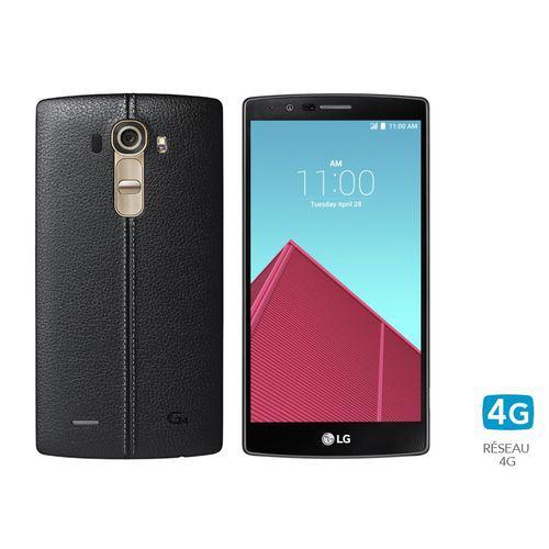 "Smartphone 5.5"" LG G4 cuir noir 32 Go"