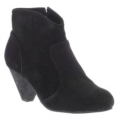 Boots unies à talon effet daim (3 couleurs disponibles)