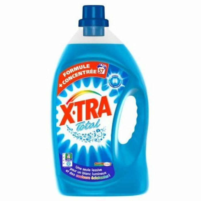 4 x Lessive liquide Xtra Total 4L - 57 lavages (avec la carte fidélité)