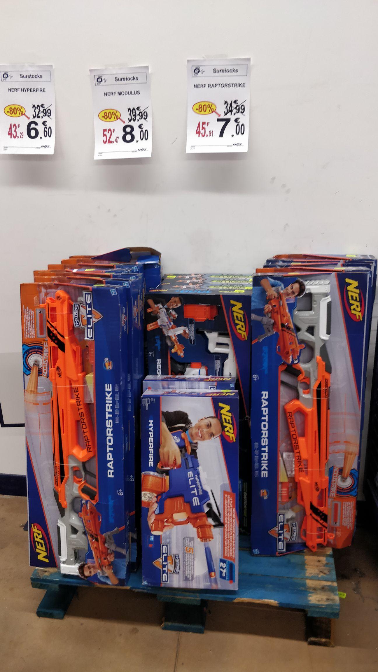 80% de réduction sur une sélection de jouets Nerf - Ex : Nerf Raptorstrike (Rochefort 17)