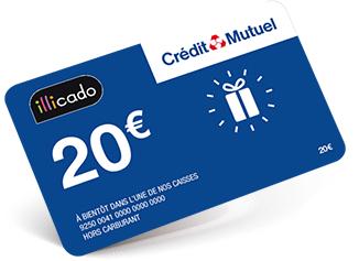 20€ offerts en carte Illicado - 100% Gagnant (Crédit-Mutuel.fr)