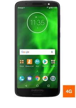 "Smartphone 5.7"" Motorola Moto G6 - full HD+, SnapDragon 450, 3 Go de RAM, 32 Go, bleu"