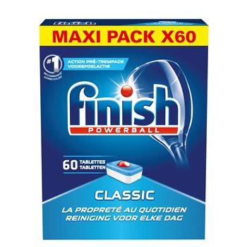 Lot de 2 packs de tablettes lave-vaisselle Finish Classic - 2 x 60