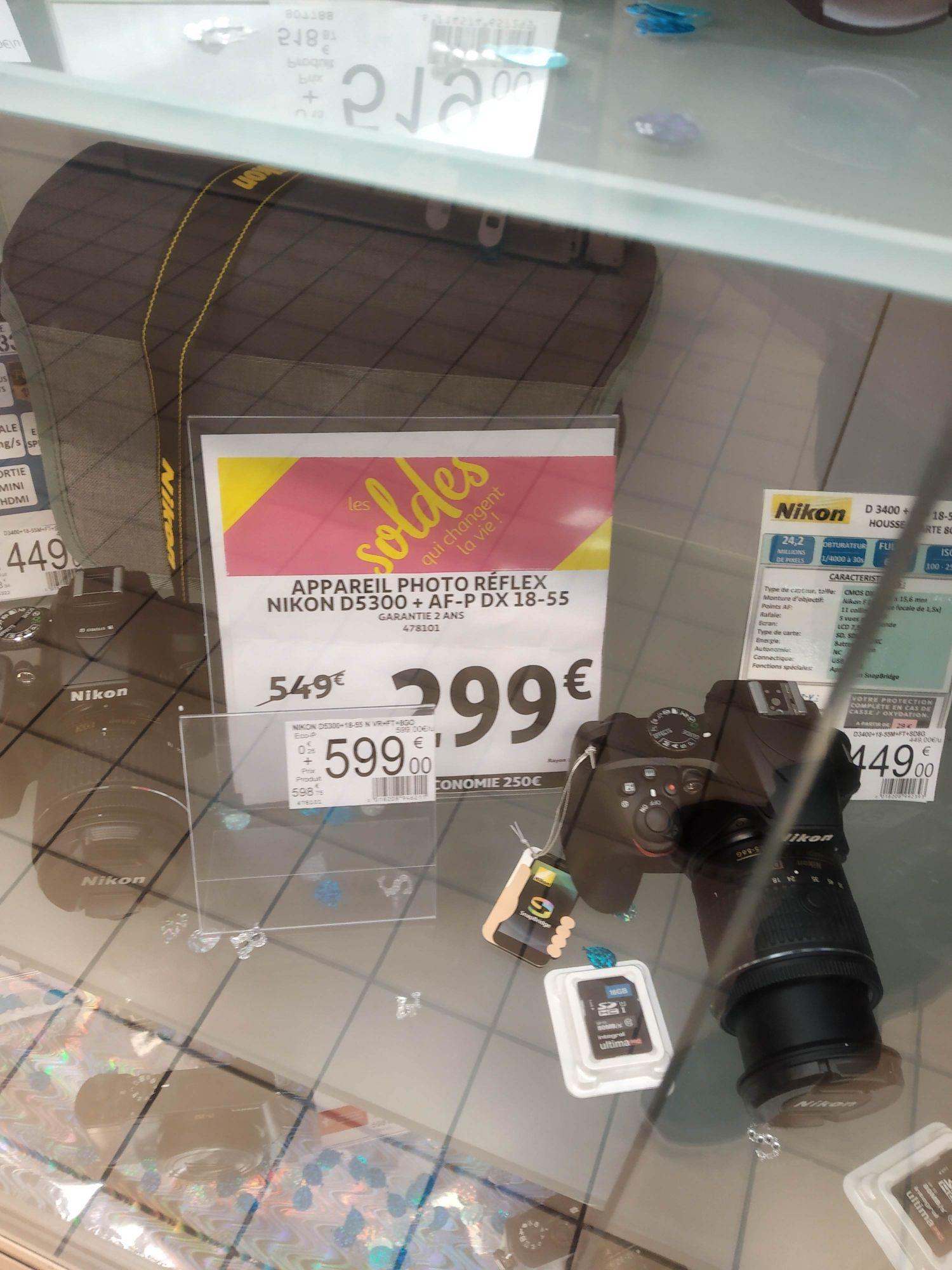 Appareil photo numérique Réflex Nikon D5300 (24.2 Mpix) + objectif 18-55 mm - Avignon Mistral 7 (84)