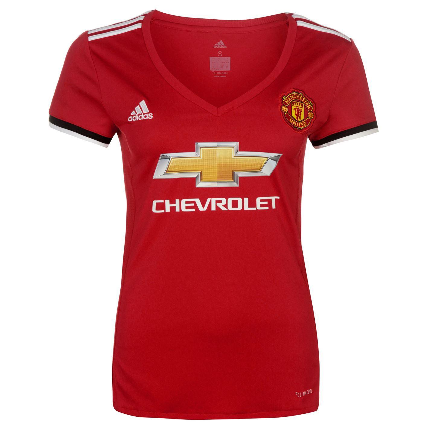 Sélection de Maillots de Football Adidas Manchester United en Promotion - Ex: Home 2017-2018 pour Femmes (Taille XL)