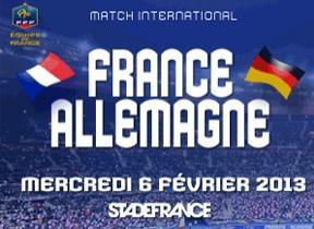 50% de réduction sur les places France / Allemagne (Football) au stade de france