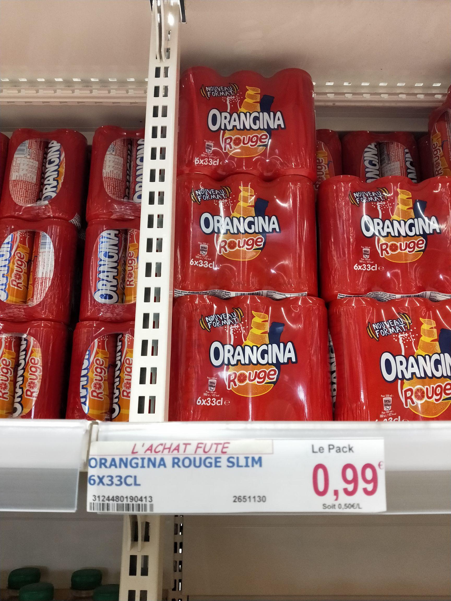 Pack de 6 canettes Orangina rouge (6x 33cl) - Marché frais