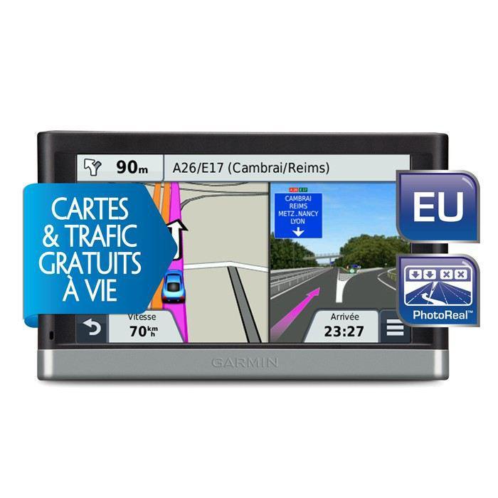 GPS Garmin Nuvi 2447 LMT - Europe 23 Pays - Info Trafic et MAJ des Cartes Gratuite et à Vie