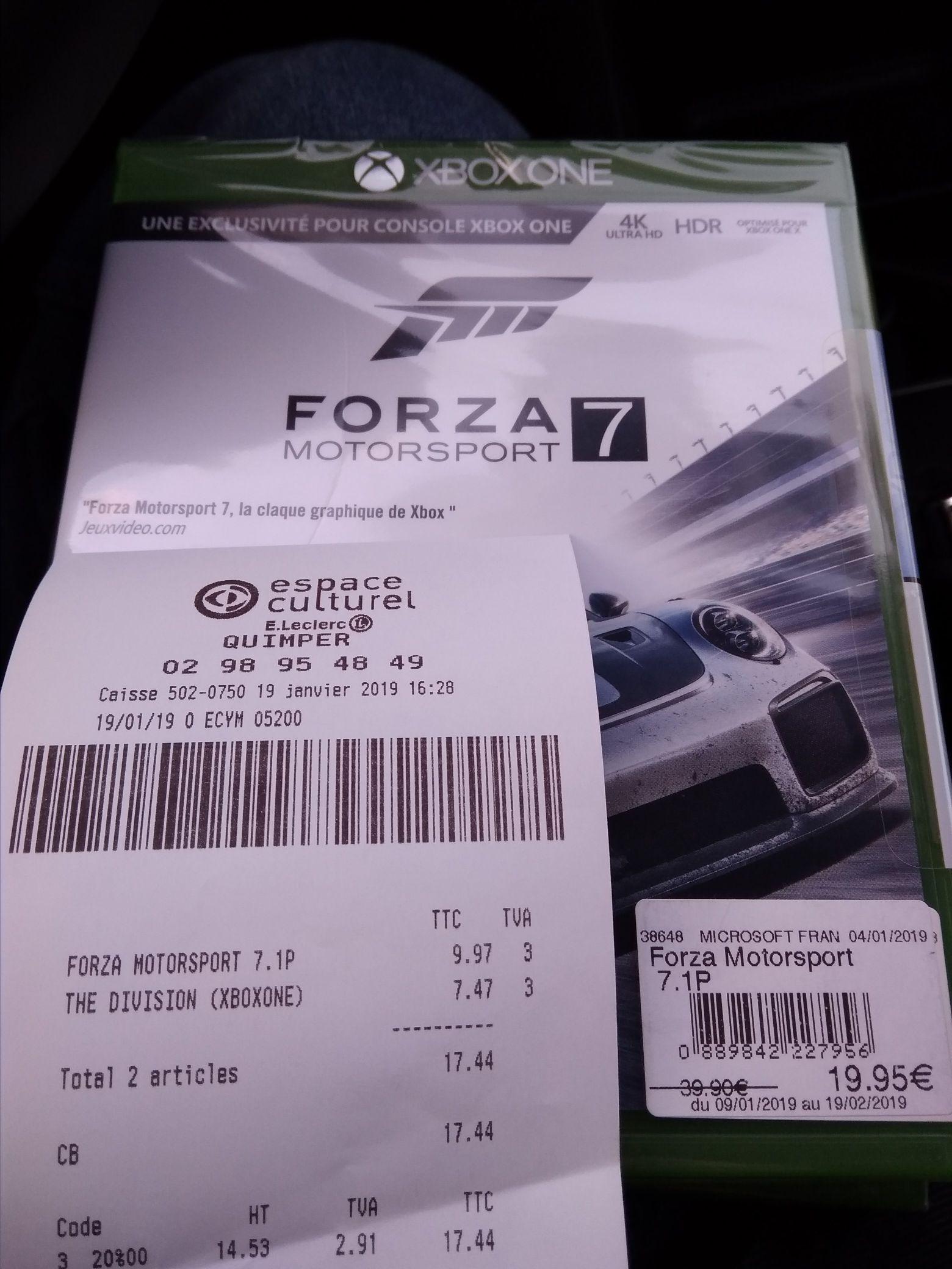 Jeu Forza Motorsport 7 sur Xbox One - Quimper (29)
