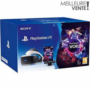 Pack PlayStation VR V2 MK4 + PlayStation Caméra V2 + VR Worlds à télécharger
