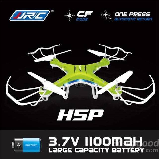 Drone JJRC H5P avec caméra 2.0 MP 2.4G 4CH 6Axis batterie 1100mAh - RTF
