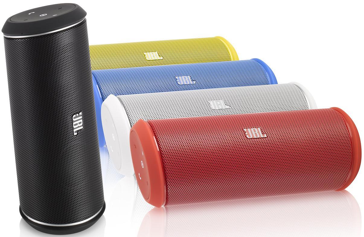 Enceinte Bluetooth & NFC JBL Flip II - Coloris Blanc, Noir, Rouge, Bleu & Jaune