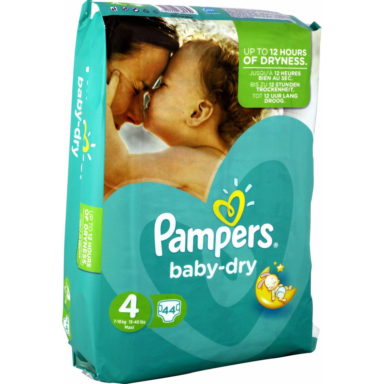 Sélections de Couches Pampers en promo par lot de 3 - Ex : Lot de 3 Couches Baby Dry Taille 4 (Maxi) 7-18 kg soit 132 couches