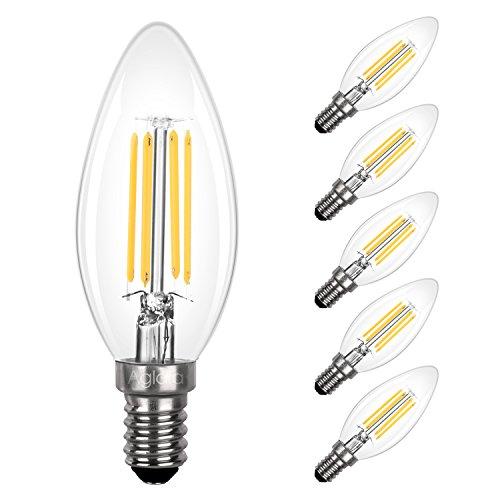 Lot de 5 Ampoules LED à Filament Aglaia - E14, 3.5W (Équivalent 40W), 2700K (Blanc Chaud), 430LM (vendeur tiers)