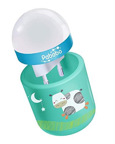 Veilleuse Portable Pabobo - Nature, LED à Lumière Douce pour Bébé - Vert
