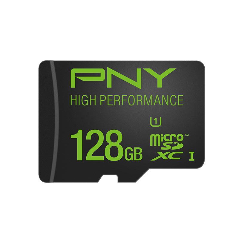 Carte Micro SDXC PNY High Performance 128Go Classe 10 UHS-I / Port et taxes inclus
