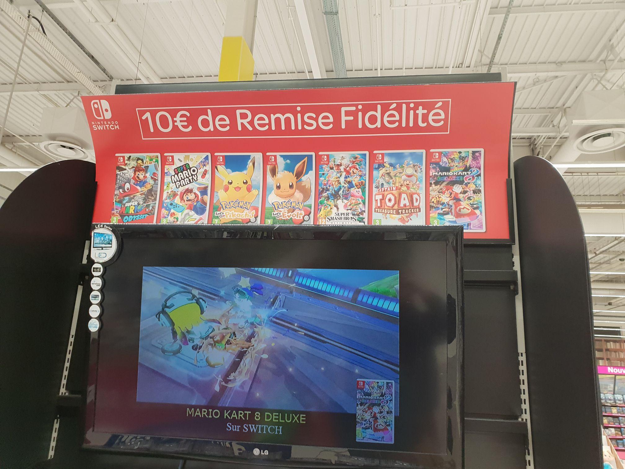 10€ crédités sur la carte de fidélité sur une sélection de jeux Switch - Ex: Super Smash Bros Ultimate (via 10€ en fidélité) - Toulouse (31)
