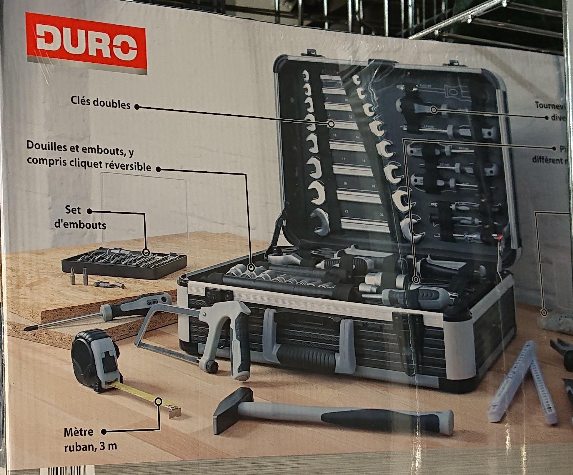 Coffret d'outils Elite Duro avec 128 pièces - Châlons en Champagne (51)