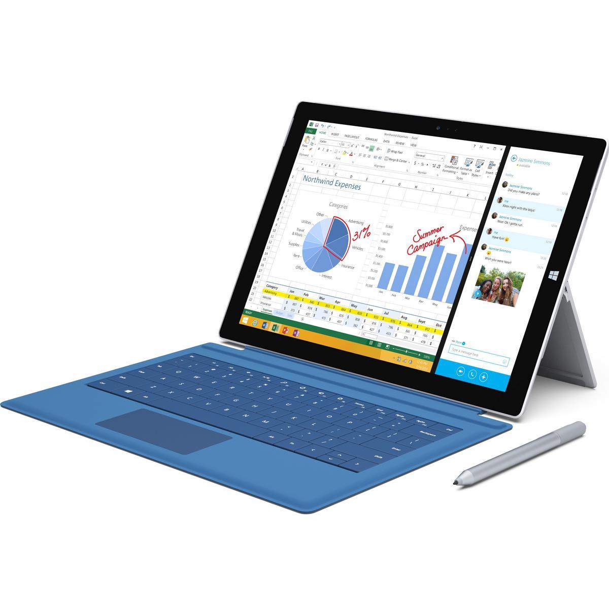 20% de réduction sur les Microsoft Surface Pro 3 - Ex: modèle 64 Go, 4 Go de RAM, i3