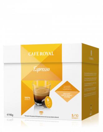 Sélection de paquets de 16 Capsules de café compatibles Dolce Gusto Café Royal en promotion - Ex : Expresso