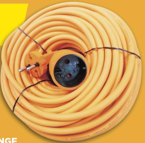Rallonge électrique - 20 m à 9.9€ ou 40 m à 19.9€