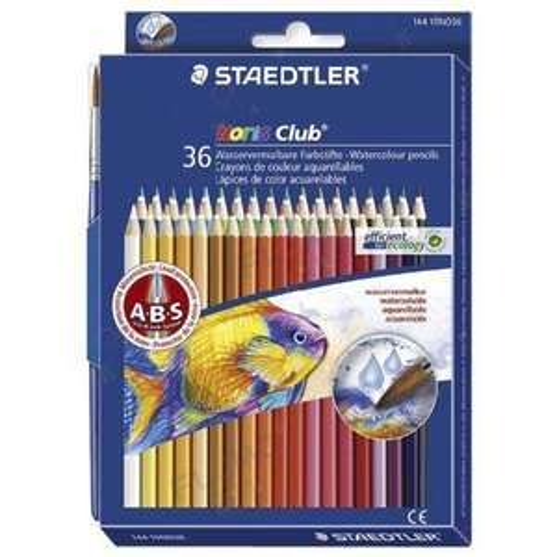 Pack de 36 Crayons de couleur aquarellable Staedtler Couleurs Assorties + Pinceau