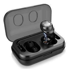 Écouteurs intra-auriculaires sans-fil QCY T1C - Bluetooth 5.0, IPX4, Noir