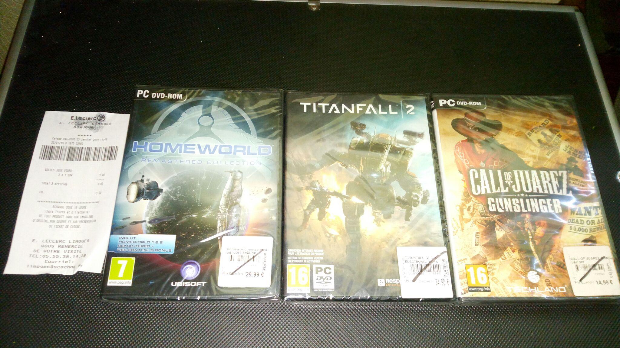 Call of Juarez: Gunslinger, Homeworld ou Titanfall 2 sur PC à 1€ - Limoges (87)