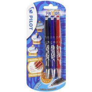 Pack de 3 Stylos Frixion Ball de Pilot à 2.37€ @ Carrefour ou Pack de 3 Stylos + 3 recharges bleues