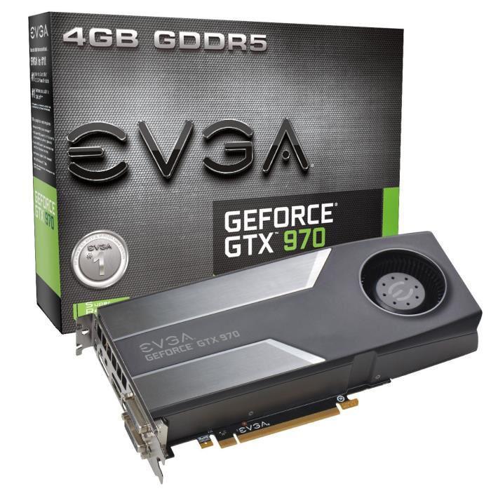 Carte graphique EVGA GeForce GTX 970 4Go DDR5 + Jeu Metal Gear Solid V : The Panthom Pain