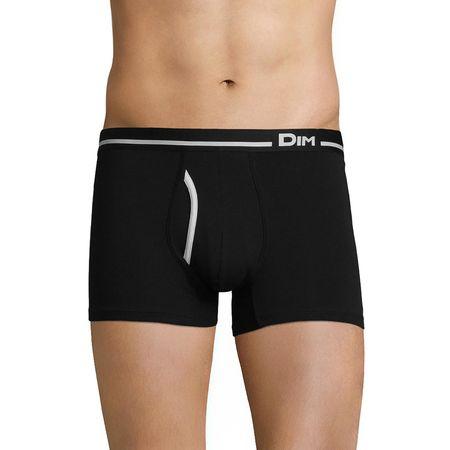 Boxer Dim Australien - noir, en coton stretch