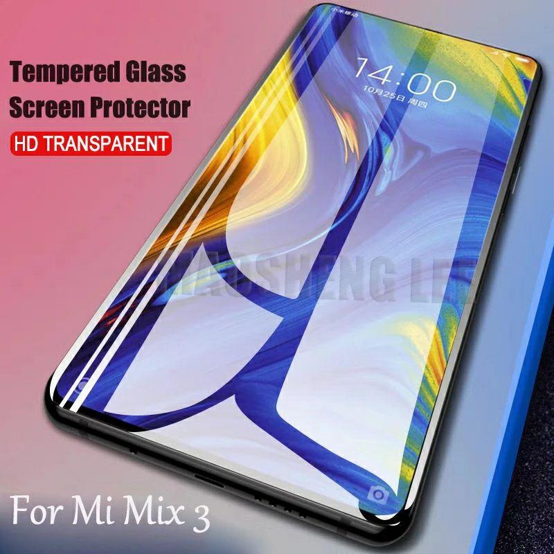 2 Protections en verre trempé 9H compatibles Xiaomi Mi MiX 3