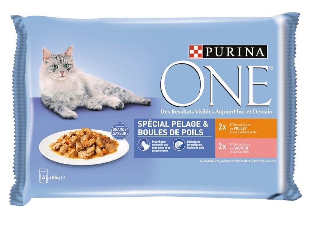 Pâté pour chat Purina One - 4 x 85g (via 1,37€ sur la carte de fidélité)