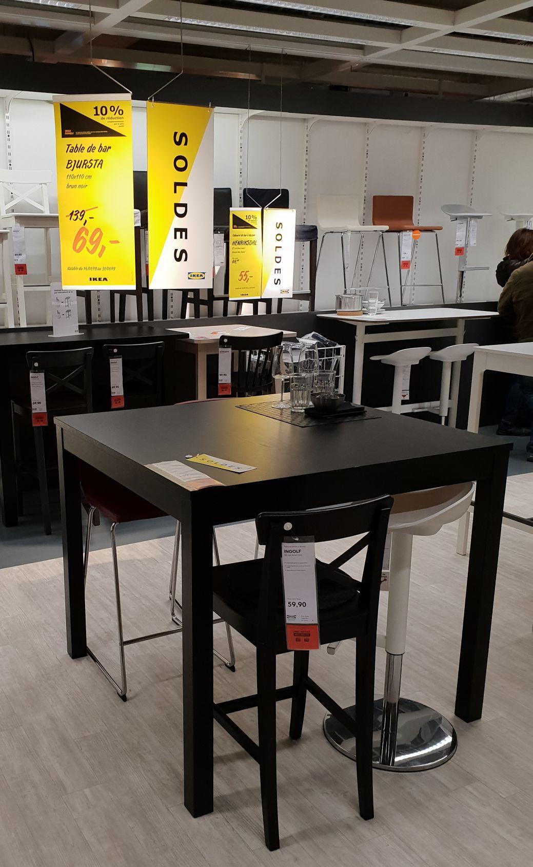 Table de bar Bjursta (Frontaliers Belgique - Arlon)