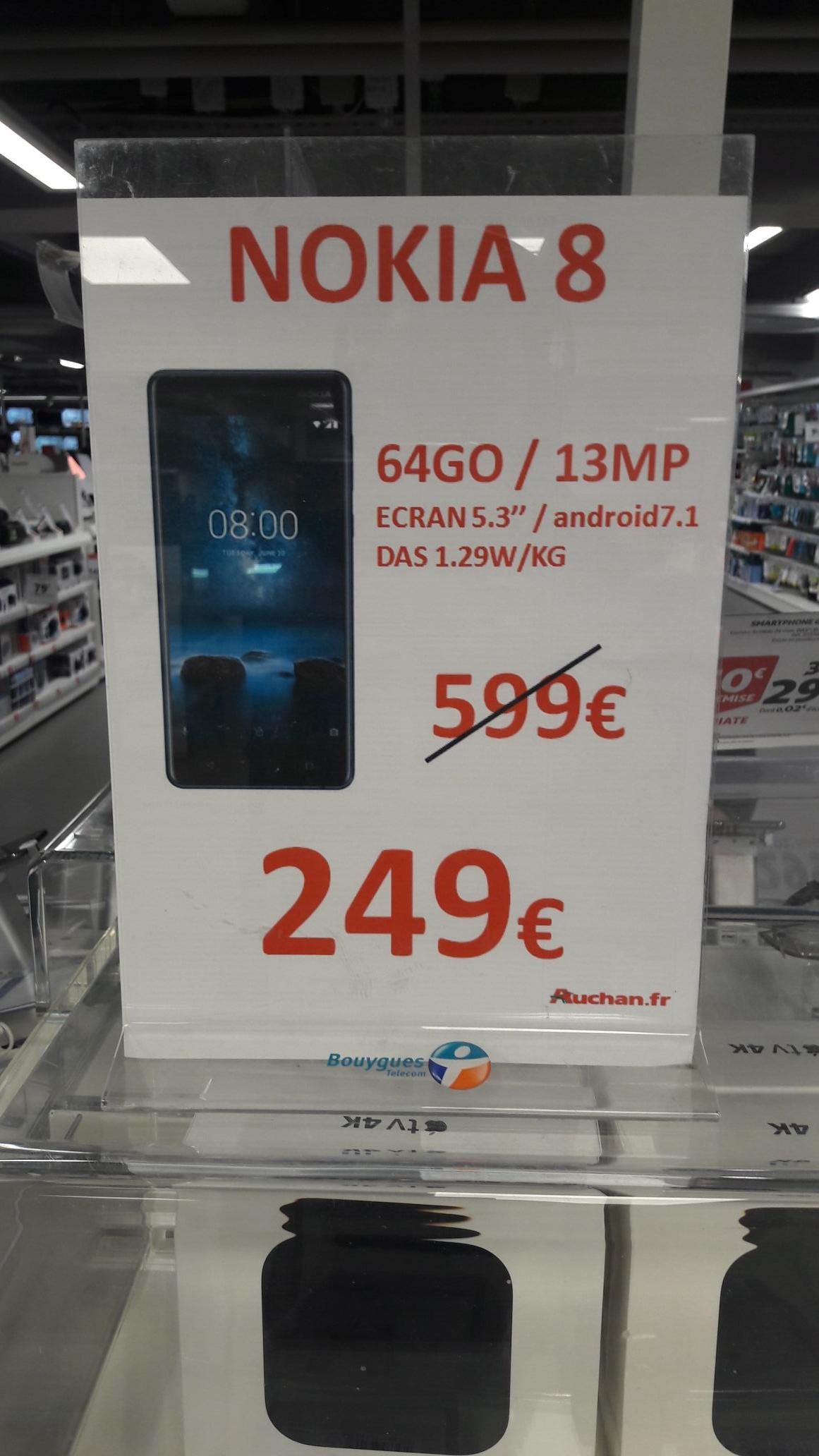 """Smartphone 5.3"""" Nokia 8 - 64 Go (Fontenay-sous-Bois 94)"""