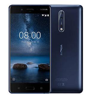 """Smartphone 5.3"""" Nokia 8 - 64Go, Bleu (Frontaliers Suisse)"""