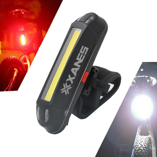 Lampe pour vélo Xanes - rechargeable via USB, 100 lumens