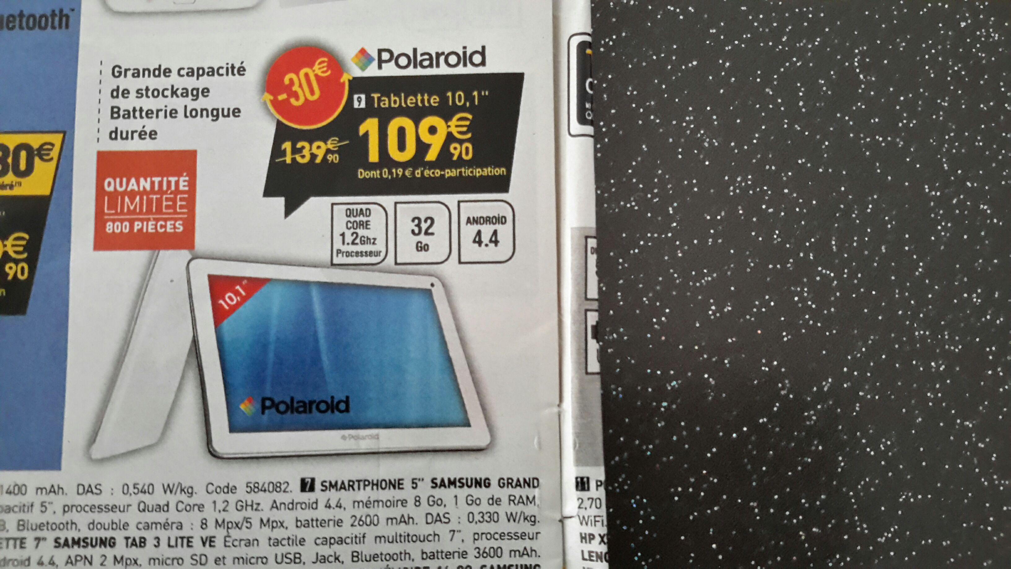 "Tablette 10."" Polaroid (Quad Core, Android 4.4, 32 Go Rom)"