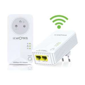 Kit de 2 adaptateurs CPL IT Works - WiFi 500 Mbps, Blanc
