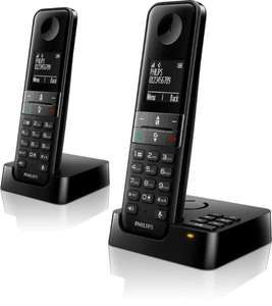 Téléphone sans fil Philips Dect D4552B incluant 2 combinés (via ODR de 25€)