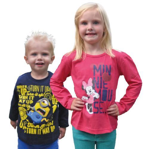 T-shirt manches longues (Superman, Minions, Cars...)